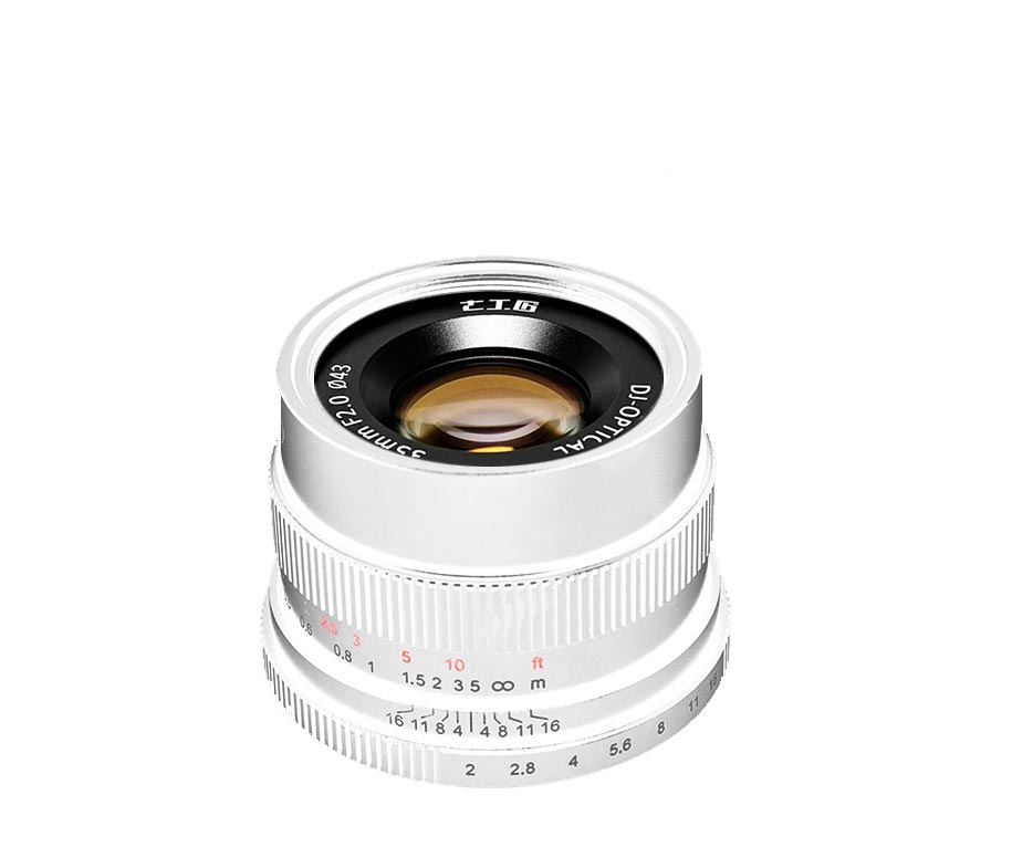 7Artisans Lens FX 35mm F2.0 Silver for Fujifilm