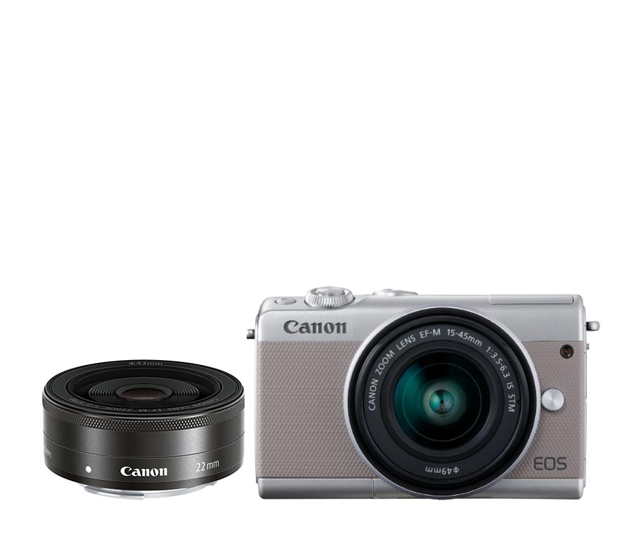 Canon EOS M100 EF-M 15-45 IS STM + EF-M 22 STM Grey