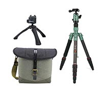 Fotopro Tripod X-go Carbon Matt Green + Vanguard Veo Travel