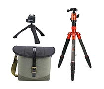 Fotopro Tripod X-go Carbon Orange + Vanguard Veo Travel 21BK
