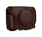 MYER Leather Case for Fuji X-70 Coffee