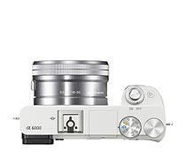 Sony Alpha A6000L 16-50mm F3.5-5.6 OSS (White)