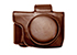 MYER Leather Case for E-M10 mark II (short)-Brown