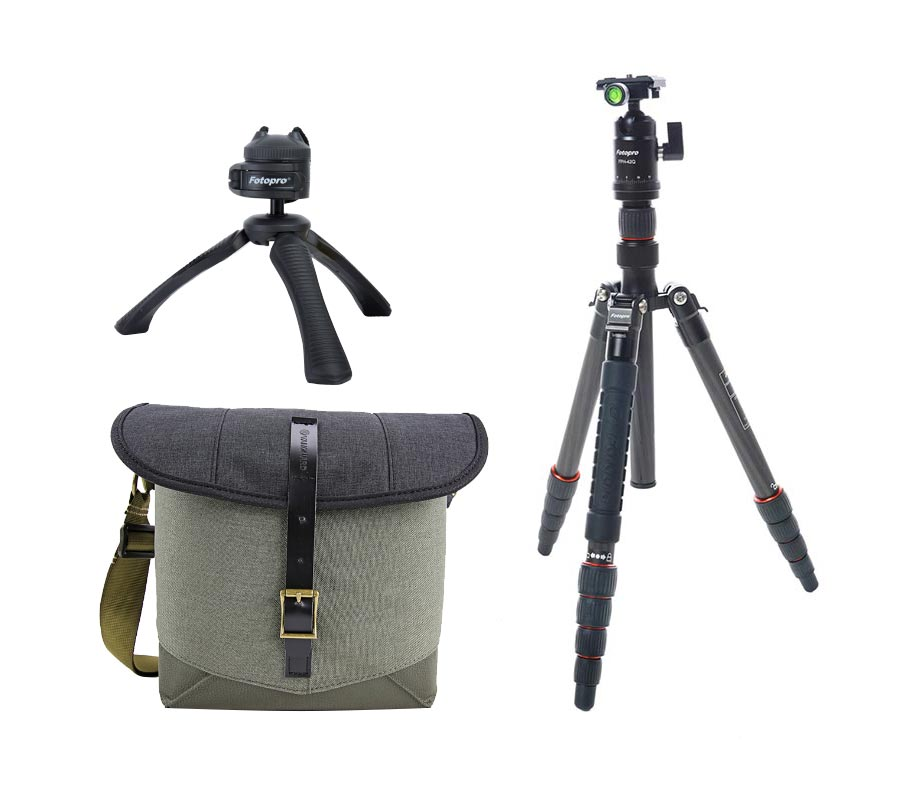Fotopro Tripod X-go Carbon Matt Grey + Vanguard Veo Travel 21BK + Tripod SY-310