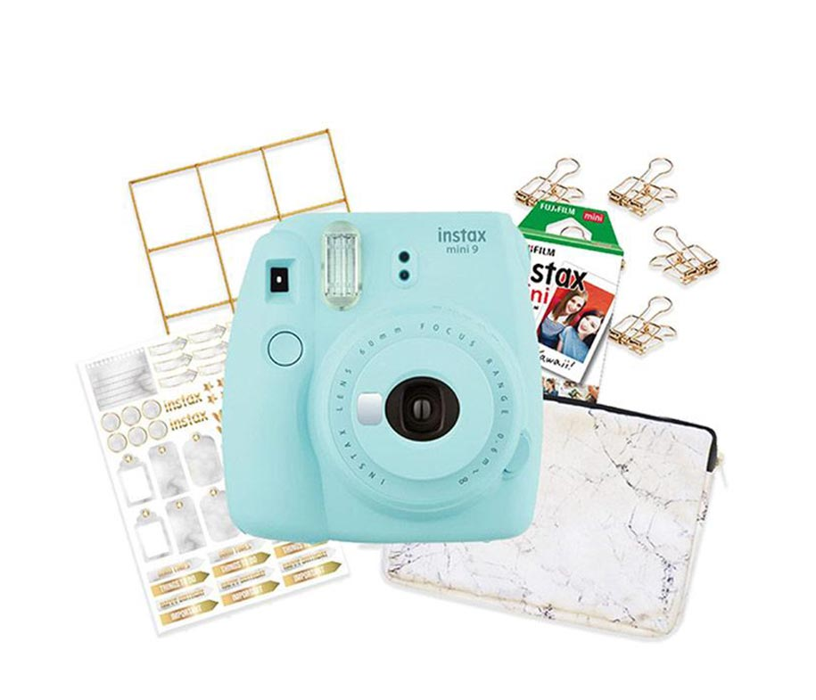 Instax Mini 9 Ice Blue Marble Package