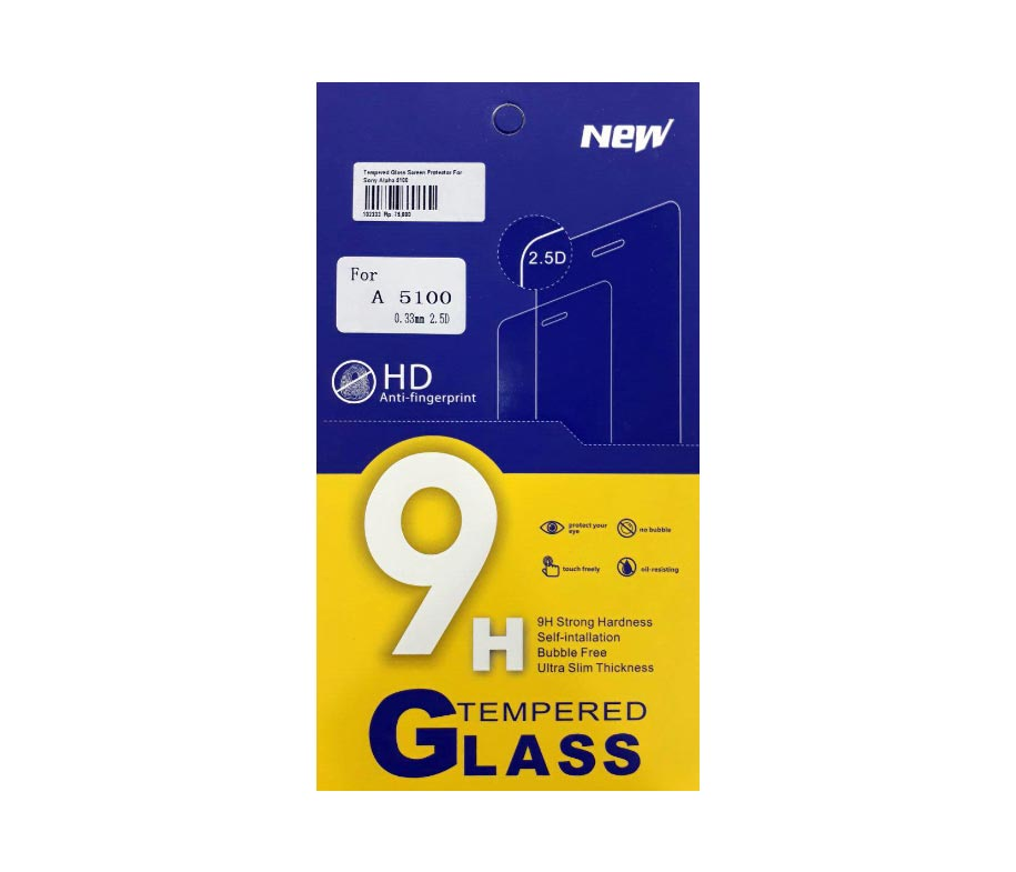Tempered Glass Screen Protector For Sony Alpha 5100