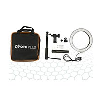 Fotoplus Ring Light RL-10 Bi-Color LED Combo Kit