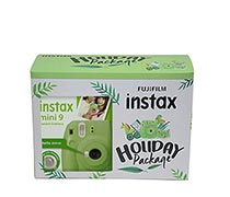 Fujifilm Instax Mini 9 Lime Green Holiday Package