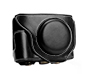 MYER Leather Case for Fuji X70 Black with White Line