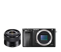 Sony Digital Camera Alpha 6000 BO Black plus 35mm F 1.8 OS