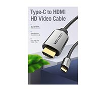 Vention Type-C to HDMI Cable with USB Power Supply
